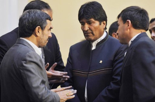 Mahmud Ahmadinejad en Bolivia