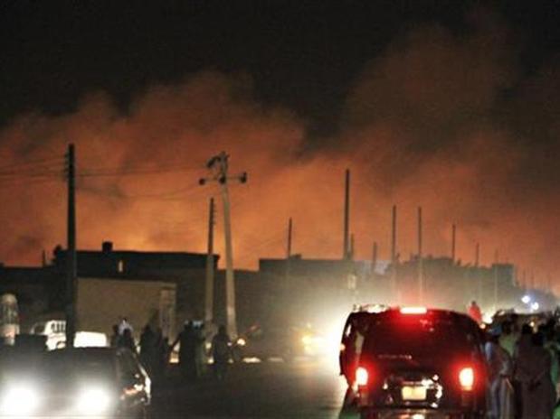 Incendio en fábrica de Sudán