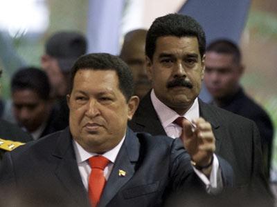 Nicolás Maduro, vicepresidente de Chávez