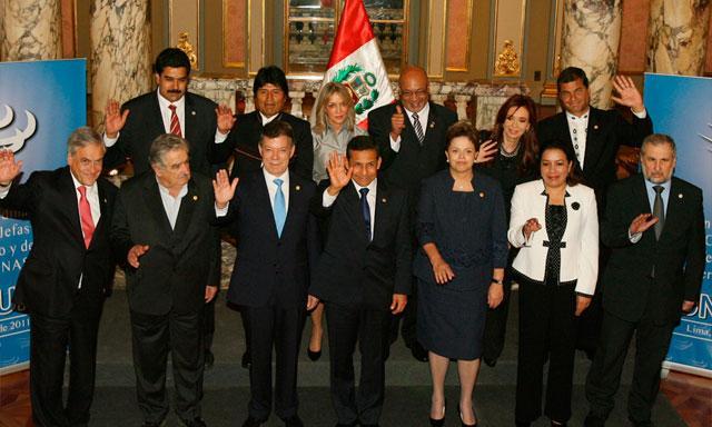 Nicolás Maduro con Unasur en Lima