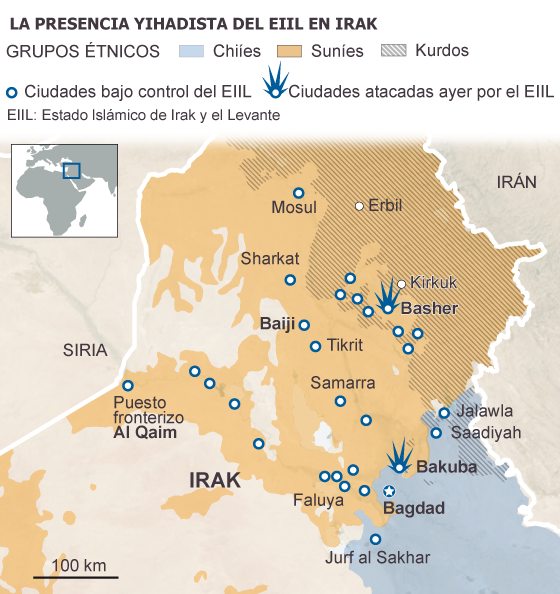 Avance del Isis en Irak
