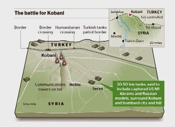 La batalla por el control de Kobani, en Siria
