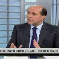 Cancilleres condenan ruptura del orden democrático en Venezuela